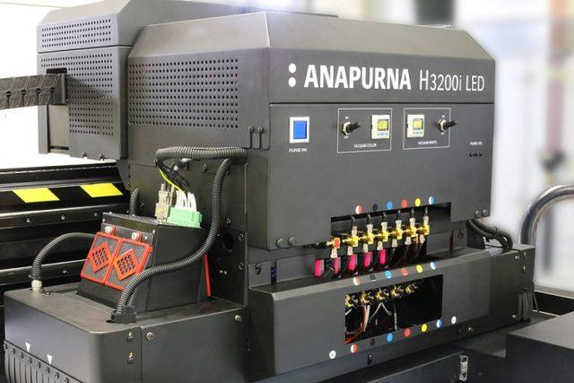 Uuden tulostimen LED UV -kuivatusyksikkö. Kuva Agfa Graphics.