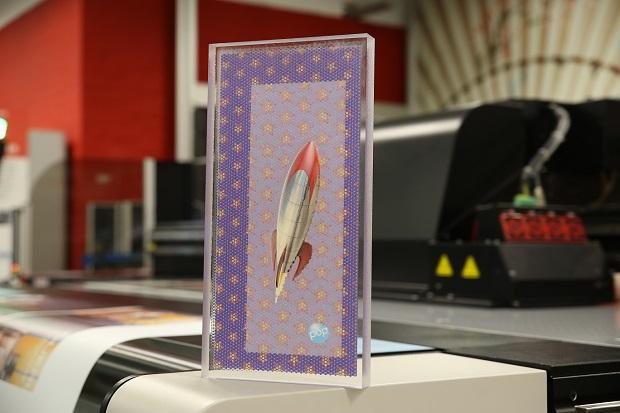 Jeti Mira -tulostimella voidaan tuottaa myös 3D-efektejä. Kuva Agfa Graphics.