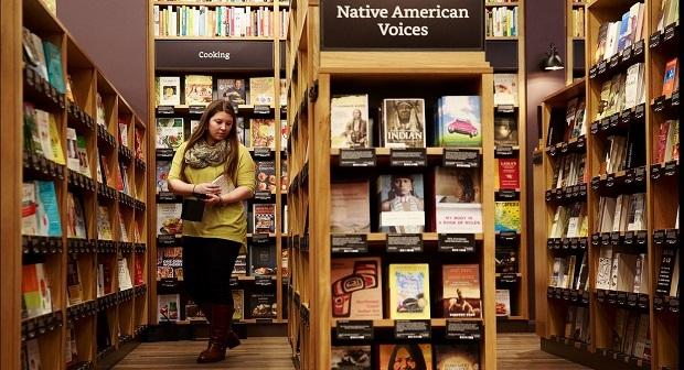 Amazonin kirjakauppa Seattlessa. Kuva Erika Schultz/The Seattle Times.