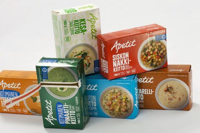 Apetitin ruokapakasteiden pakkaukset saivat tunnustusta Pro Carton Ecma 2015 -kilpailussa.