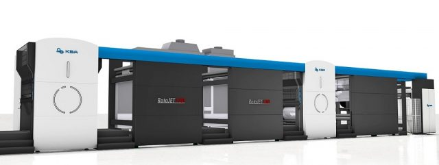 KBA:n RotaJET 130 inkjet-painokone.