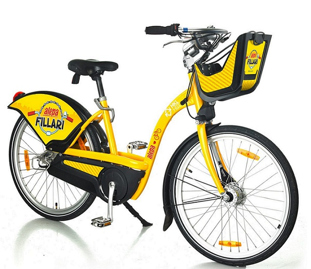 Ulkomainonta kasvattavat mm. kaupunkipyörät, joita otetaan Helsingissä käyttöön 500 toukokuussa. Kuva Clear Channel.