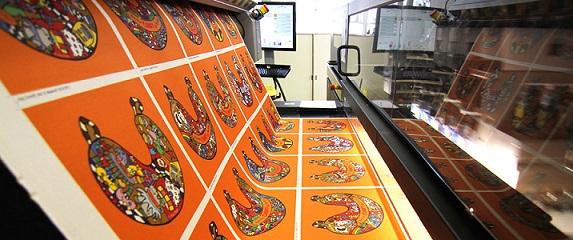 Durstin Kappa 180 -tekstiilipainokone Textil Fabin tuotannossa Saksasssa.