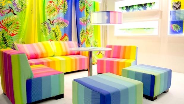 Fespan Print Hotel -osasto näyttää miten hotelli voidaan sisustaa painotuotteilla.