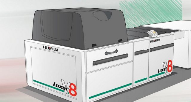 Fujin Luxel V-8 levyntulostin.