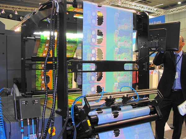 HP Indigo 20000 -painokone Drupassa. Kuva Reino Lantto.