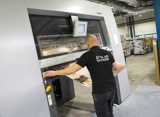Saksalainen painokoneiden valmistaja Heidelberg sai tammikuussa 13 miljoonan euron tilauksen ruotsalaiselta Atta.45 -painotalolta. Kuva Heidelberg.