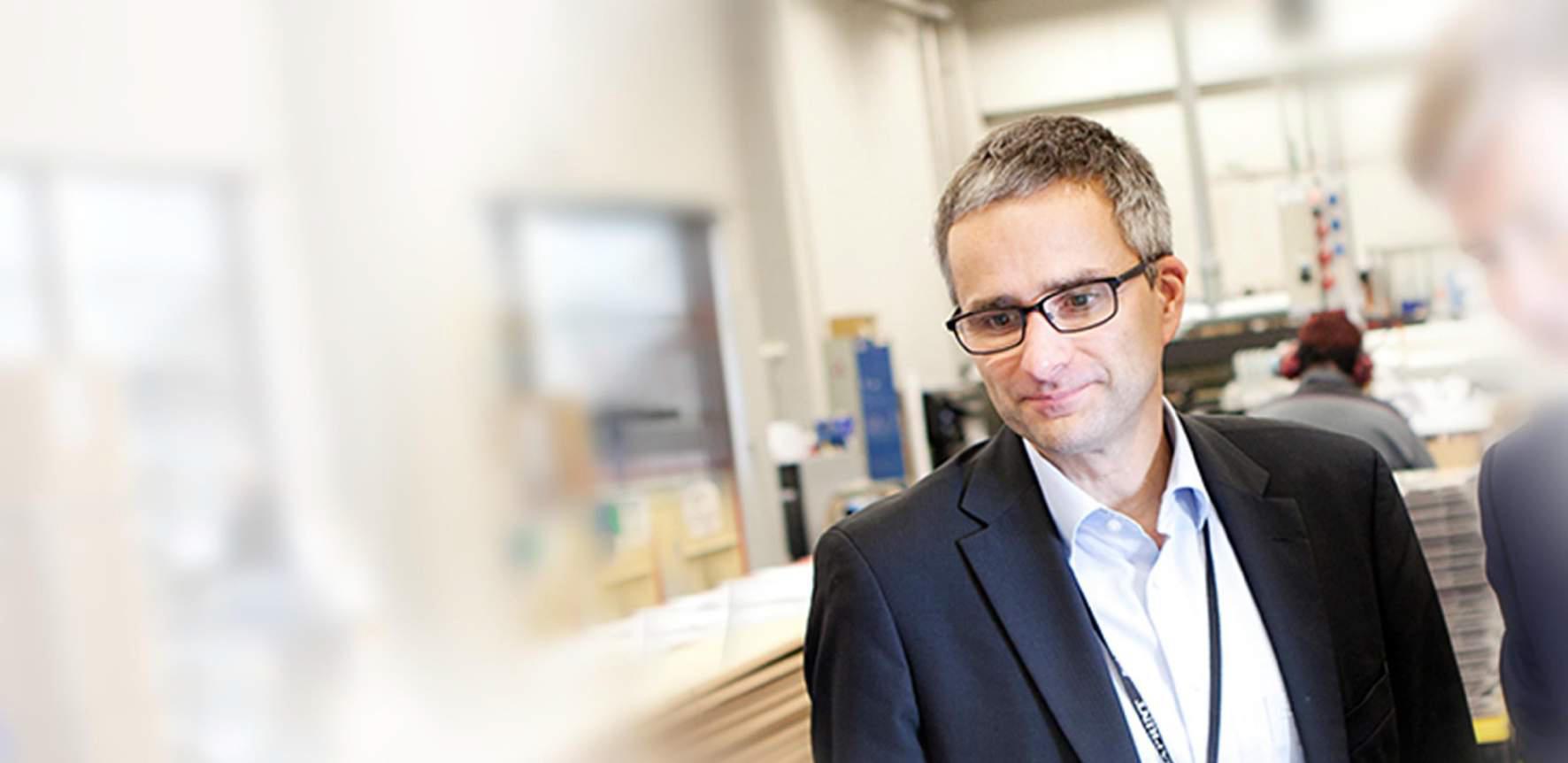 Jukka Saariluoma on Hansaprintin Direct-liiketoimintayksikön johtaja.