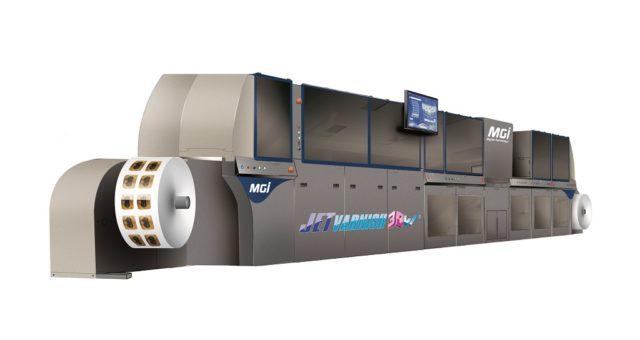 MGI:n JETvarnish on integroitu, rullalta rullalle toimiva koristepainatuksen järjestelmä.