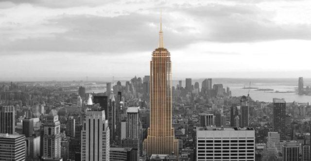 Empire State Building puusta Metsä Woodin konseptina.