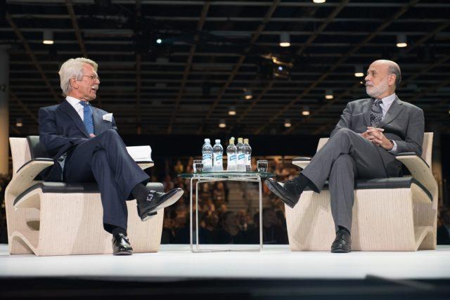 Nordic Busines Forumissa 2015 esiintyivät mm. Björn Wahlroos ja Ben Bernanke. Kuva NBF.