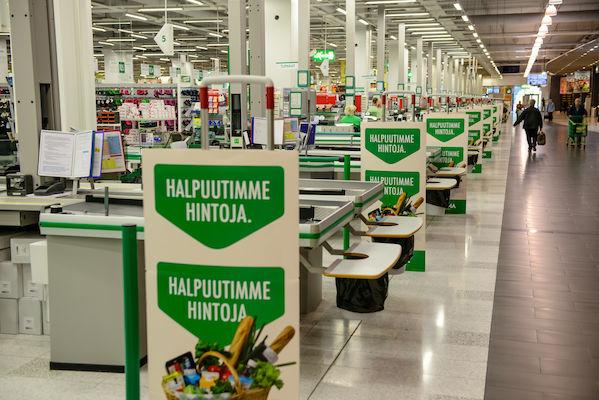 Halpuuttamiskampanja näkyi Prisma-myymälöissä. Kuva SOK.