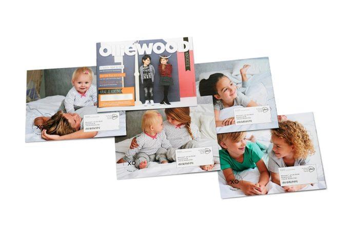 Olliewoodin personoituja lastenvaatekuvastoja.