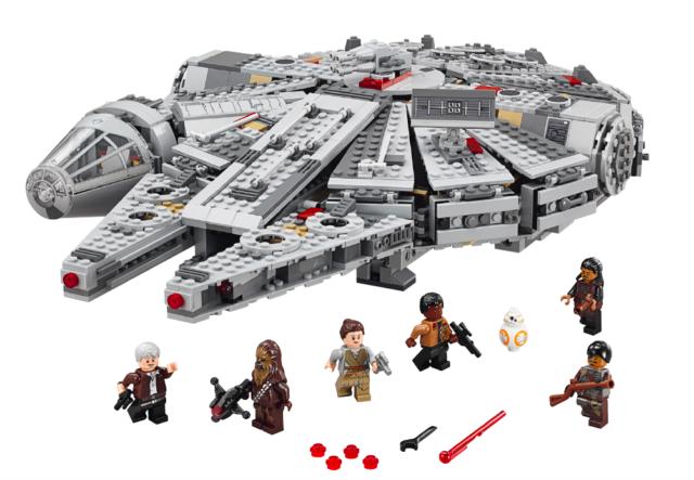 Maailman suurin leikkikaluvalmistaja LEGO Group hyödyntää lisensointia liiketoiminnassaan molempiin suuntiin: se sekä antaa lainalle Lego-lisenssiä että ottaa lainalle muita brändejä. Kuvassa Tähtien sota -elokuvasta tutun Millennium Falconin Lego-versio.
