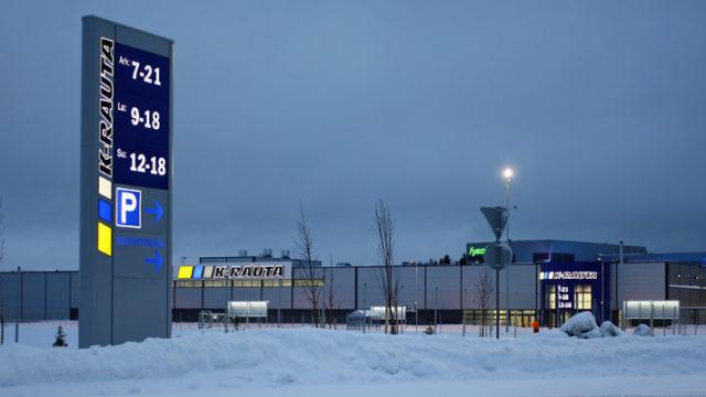 Rautakesko on valinnut Tammerneonin ulkovalomainosten toimittajaksi olemassa oleviin ja uusiin myymälöihinsä Suomessa, Ruotsissa, Norjassa ja Venäjällä.