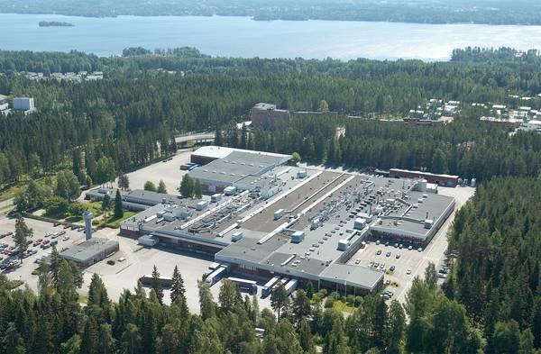 Raflatacin Tampereen tehdas. Kuva: UPM.