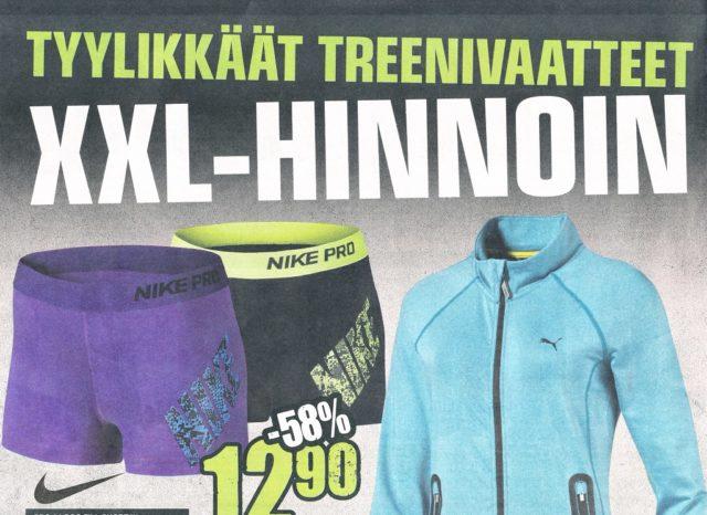 XXL-ketju käytti Suomen markkinoiden onnistuneessa valtaamisessa paljon ja monenlaista printtimainontaa.