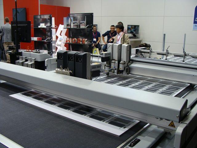 Zündin uusi D3 leikkuri BHS:n automaattisella materiaalin käsittelyllä. Kuva Reino Lantto.