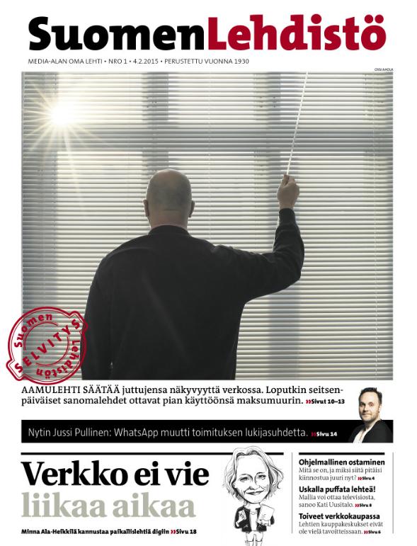 Suomen Lehdistön verkkojulkaisu tuotetaan eDockerin ohjelmistolla.