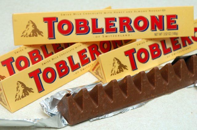 Stora Enson kartonkia käytetään mm. Tobleronen pakkauksissa.